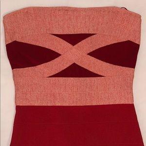 Guess Ambrosia Strapless Bandage Dress